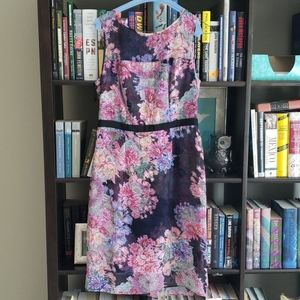 Adrianna Papell floral dress, size 6